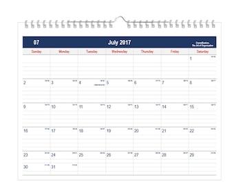 2017 Wall Calendar January December 11 x 17 3