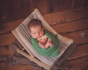 Newborn Photography Prop, Newborn Chair, Newborn hammock, Vintage beach Chair,  vintage photo props, newborn props, Photography prop