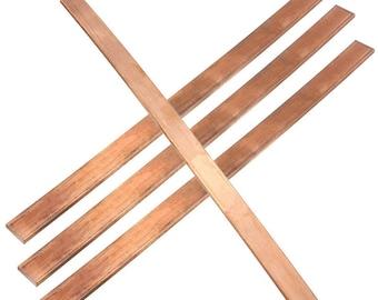 "Flat Copper Bar model making 1/8"" x 3/8"" x various lengths (3mm x 10mm x various lengths)"