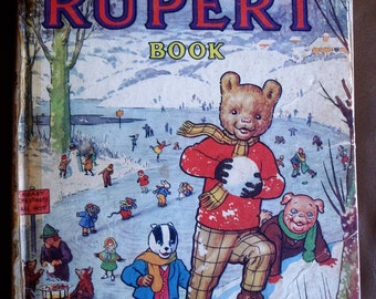 Rupert The Bear Daily Express Annual 1951 Rare Childrens Book