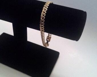 Vintage Gold Tone Bracelet, Gold Bracelet, Jewelry, Gifts For Her, The Look of Real Gold, Bracelets, Link Bracelet, Chain Bracelet