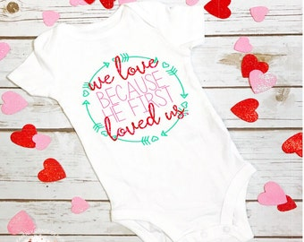 valentines day baby outfit/ valentines day girl/ christian valentine's day/ christian baby shirt/ Gid shirt