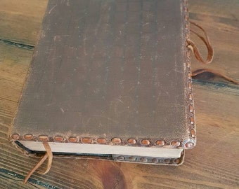 Beautifully old vintage leather bound Holy Bible