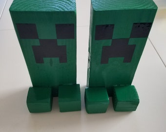 Minecraft Creeper Bookends