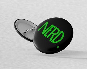 Nerd Gamer Gift - Noob Player Pin - Gaming Badge Pin - Green Nerd Button - Uber Noob Magnet - Gamer Girl Badge - Xbox Fan Button - Gaming