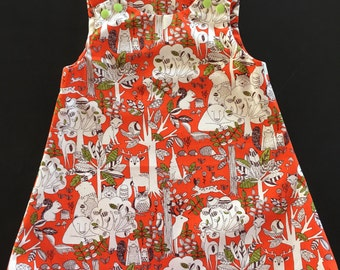 Woodland Dress - Orange