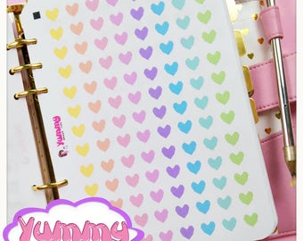 Rainbow Square Heart Stickers