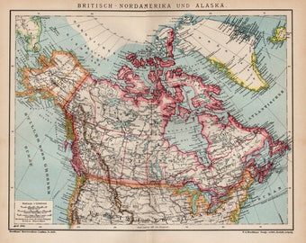 Vintage canada map etsy antique map of canada from 1890 canada map of canada canada map gumiabroncs Image collections
