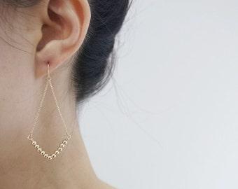 Gold filled Earrings,V shaped Earrings,14K Gold filled