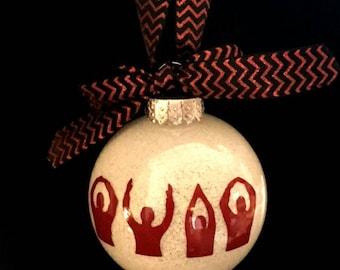 Ohio State Buckeyes O-H-I-O Christmas Ornament, Ohio State Christmas, OHIO Gift, Secret Santa, OSU Ornament, Ohio State Bucks
