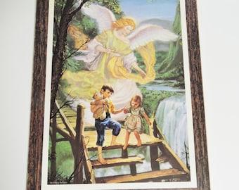 Vintage Plaque,  Vintage Stapco,  1992 Stapco, Inc U.S.A.Angle Looking over Children
