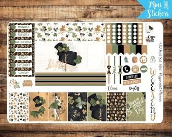 Mini H Weekly Planner Stickers, Saint Patrick's Day Mini H Weekly Planner Stickers, Mini H Stickers, Planner Stickers {#Mini32}