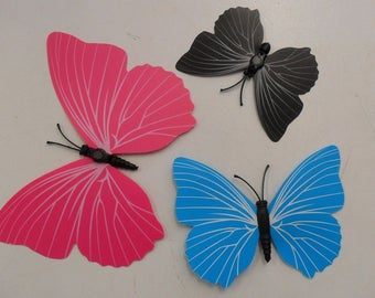 Set of 12 Mini butterflies plastic loving