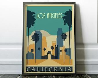 Los Angeles Poster, Los Angeles Print, Travel Print, Wall Art Print, Modern Travel Poster, Minimalist Travel Art, Minimalist Print, Wall Art