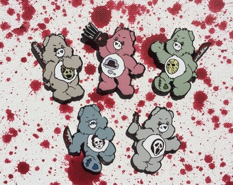 Scare Bear set // Enamel Pin // Horror Pin // Care Bear