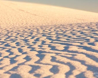 Ripples in Time: WALL ART Fine Art Photography White Sands New Mexico Desert Landscape Sunset Natural Light Outdoors Soft Dreamy Color