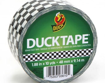 Duck® Tape,  Printed Crafting Tape, Adhesive  Tape  - Checkerboard - 1.88 inches x 10 yards