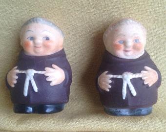 Goebel Monks Friar Tuck Salt and Pepper Shakers