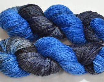 Midnight on Aran Superwash Merino