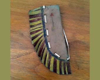 Cute Vintage Toy Holster // Folk Art // 1950s toy // Cowboys and Indians