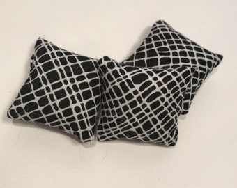 12 Scale Black Criss Cross Feature Cushion