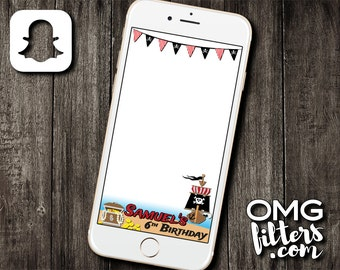 Pirate Party - Custom Snapchat Geofilter - Any Age!