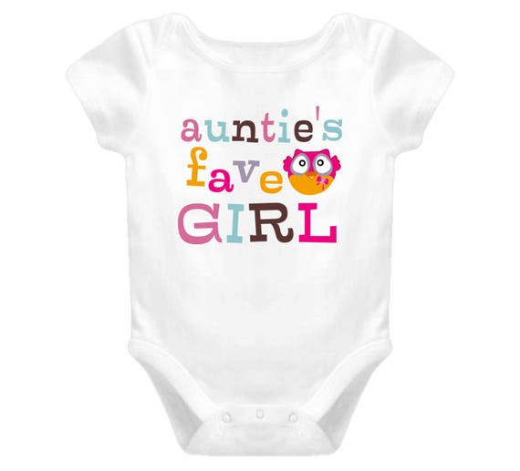 Cute Baby Bodysuit, Auntie's Fave Girl Baby Clothes, Cute Baby Clothes For Girls, Baby Girl, Auntie Bodysuit, Baby One Piece