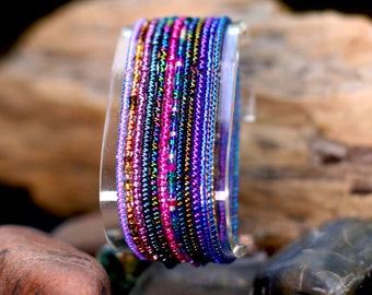 Seed bead stretchy bracelet