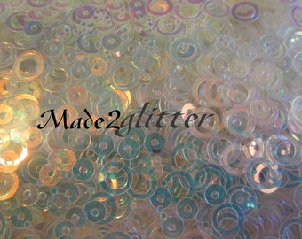Chunky Glitter circle Shapes Solvent Resistant Glitter for Acrylic and Gel Nail art