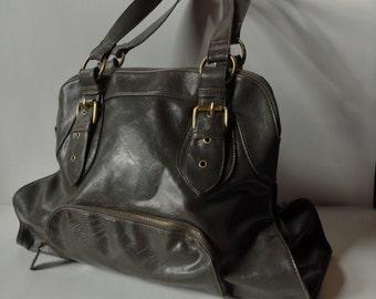 Vintage Braciano Gray Vegan Leather Large Tote