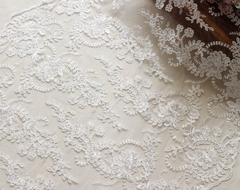 Lace fabric,Ivory lace fabric,Bridal lace,Embroidered lace,French Lace, Wedding Lace Faric,Veil lace, Lingerie Lace,Guipure Lace by the yard