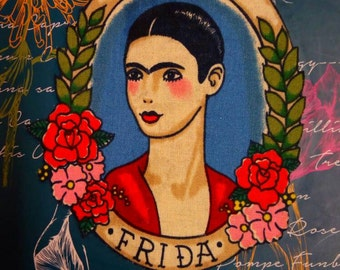 Frida Kahlo cameo A4 spiral bound notebook journal - rest secret Santa -stocking stuffer