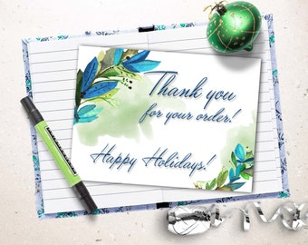 Thank for your purchase card, Thank you for your order, Printable Thank you card. Appreciation card.