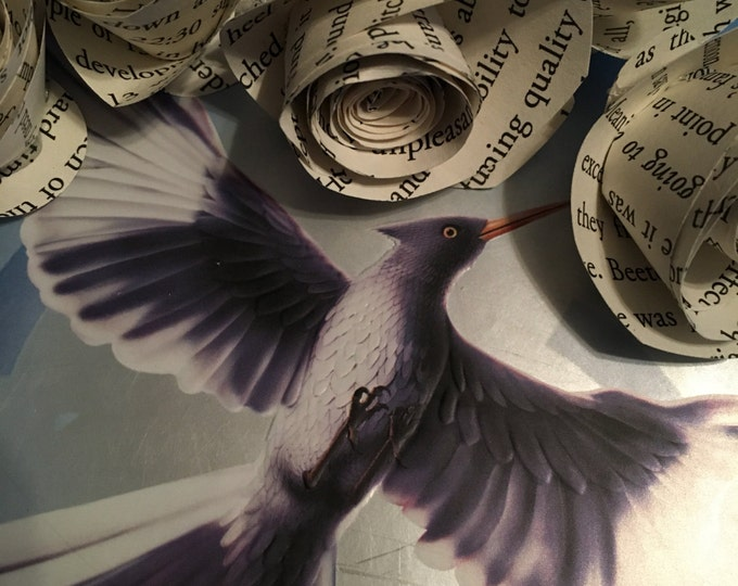 The Hunger Games Mockingjay Book Page Flowers