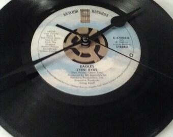 Eagles 45 Record Clock - Lying Eyes