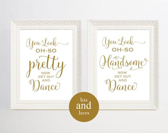 Https Www Etsy Com Listing 496720477 Gold Wedding Bathroom Signs Mens