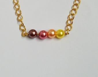 Ombre Faux Pearl Semi-Choker Necklace
