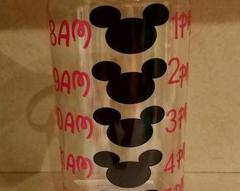 mickey hourly water bottle