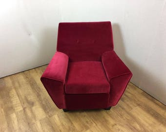 Red Vintage/Retro Armchair