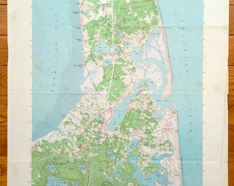 Antique Cape Cod, Orleans, Massachusetts 1962 US Geological Survey Topographic Map – Eastham, Brewster, Nauset Beach, Kingsbury Beach