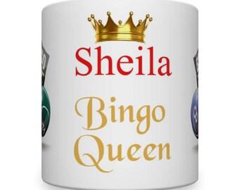 Personalised Bingo Mug. Bingo Gift. Gift for Bingo Player. Bingo Player's Mug. Mug for Bingo.