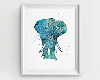 Elephant Print, Elephant Art, Elephant Decor, Nursery Elephant, Digital Elephant, Large Wall Decor, Baby Animal Nursery Art, Children Decor