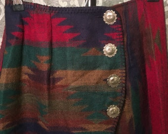 Western Blanket Skirt-Size Small