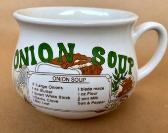 Get well gift, sick gift, onion lover, soup gift, onion gift, onion soup bowl, vintage bowls, vintage soup bowl, soup bowls