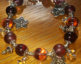Gorgeous Glass Bead Charm Bracelet