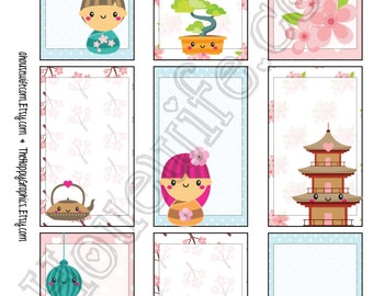 Koshi Dolls,Happy Planner stickers [109] , Full box, A5 PDF, Instant download