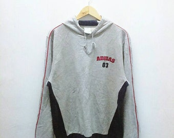 Hot Sale!!! Rare Vintage 90s ADIDAS Spell Out Pullover Hoodie Sweatshirt Hip Hop Skate Extra Large Size