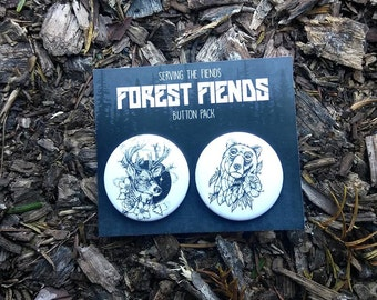 Forest Fiends Button Pack (1.25)