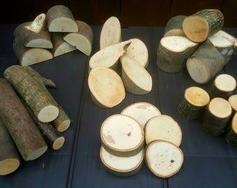 Wood bundle. 30 piece set! Nature play, construction, small world, building.