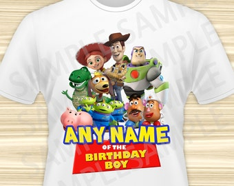 Toy Story Iron On. Toy Story Transfer. Toy Story Birthday Shirt. Toy Story Party. DIGITAL FILE.